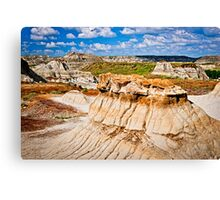 Badlands in Alberta, Canada Canvas Print
