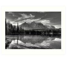 Herbert Lake in grey Art Print