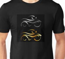 Abstract drawing of a motorbike  Unisex T-Shirt