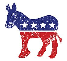 Democrat Original Donkey Logo Distressed  by Democrat