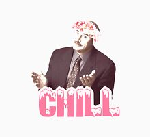 "Phil Says ""Chill"" Men's Baseball ¾ T-Shirt"