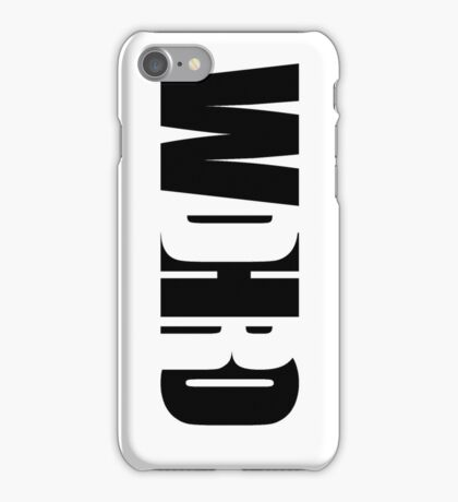 WDHRO (DR WHO, Vertical, White) iPhone Case/Skin