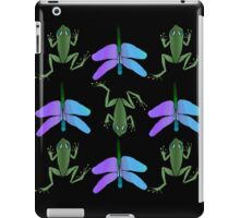 Frog and dragonfly (changeable background) iPad Case/Skin