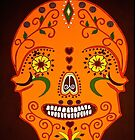Orange Skull i-pad case by Shulie1