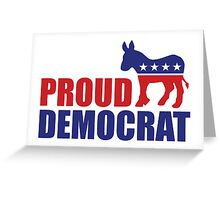 Proud Democrat Donkey Greeting Card