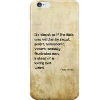 It's almost as if the Bible was written by... iPhone Case/Skin