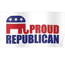 Proud Republican Elephant Poster