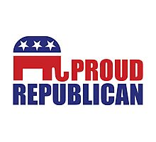 Proud Republican Elephant Photographic Print
