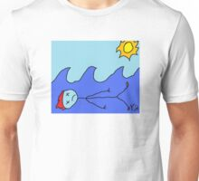 """Lovely Day at the Beach"" by Richard F. Yates Unisex T-Shirt"