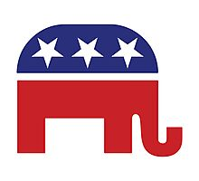 Republican Original Elephant Photographic Print