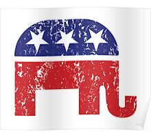 Republican Original Elephant Distressed Poster
