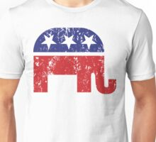 Republican Original Elephant Distressed Unisex T-Shirt