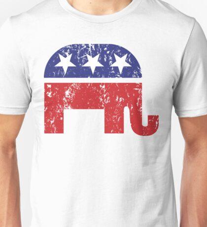 Republican Original Elephant Distressed Unisex T-Shirt
