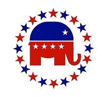 Proud Republican Circle Stars Photographic Print