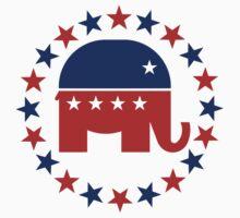 Proud Republican Circle Stars Kids Tee