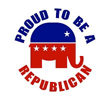 Proud to be Republican Photographic Print