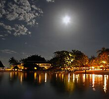 Sandals Royal Carribean by Moonlight - Jamaica by David J Dionne
