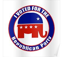 Voted for Republican Party Poster