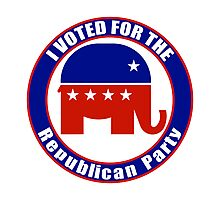 Voted for Republican Party Photographic Print
