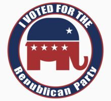 Voted for Republican Party T-Shirt