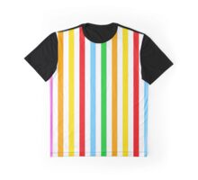Stripes (Parallel Lines) - Red Blue Green Pink Graphic T-Shirt