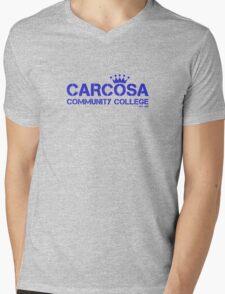 Carcosa Community College Blue Mens V-Neck T-Shirt