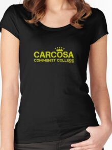 Carcosa Community College Yellow Women's Fitted Scoop T-Shirt