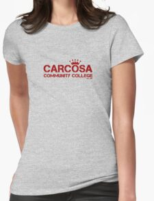 Carcosa Community College Red Womens Fitted T-Shirt