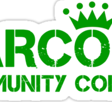 Carcosa Community College Green Sticker