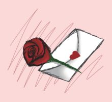 Red Rose -Love Letter Kids Clothes
