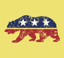California Bear Distressed Plain Kids Tee