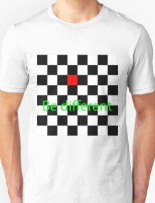 Be different checker board T-Shirt