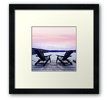 Lake chairs Framed Print