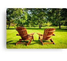 Summer relaxing Canvas Print