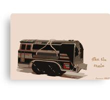 The tin train. Canvas Print