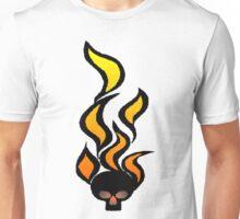 flaming skull 1 Unisex T-Shirt