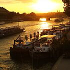 Seine sunset by bposs98