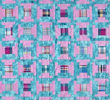Spools Log Cabin Quilt by Jean Gregory  Evans