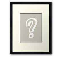 Question Mark - style 8 Framed Print