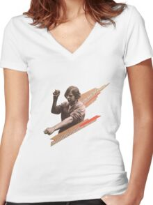 Worker  Women's Fitted V-Neck T-Shirt