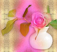 Textured Romantic Pink Rose  by walstraasart
