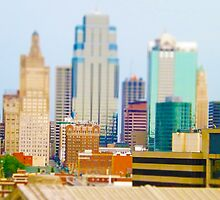 Downtown Kansas City Skyline Tilt Shift Photograph by THarmonArt