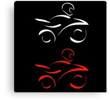 Artistic graphic of motorbike  Canvas Print