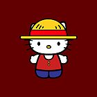 Hello Kitty - Monkey D. Luffy by jebez-kali
