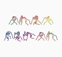 Deaf Pride BSL fingerspelling by Elle Arr