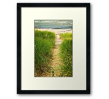Path to beach Framed Print
