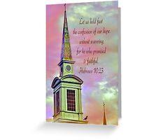 Hebrews 10:23  Greeting Card