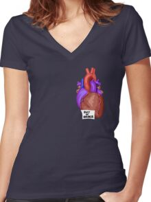Out of Order Heart Women's Fitted V-Neck T-Shirt
