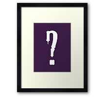 Question Mark - style 9 Framed Print