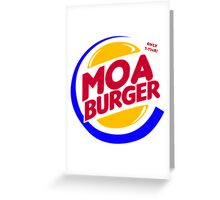 Moa Burger Greeting Card